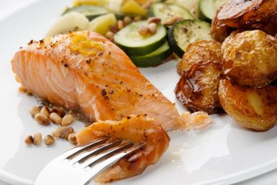 Salmon Fillet with pine nuts