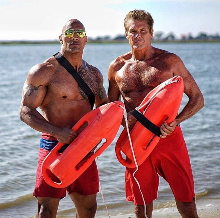 The Hoff si The Rock impreuna in Filmul Baywatch